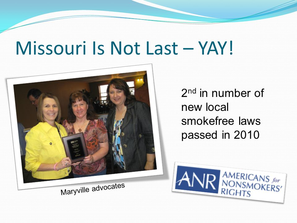 Missouri Is Not Last – YAY.