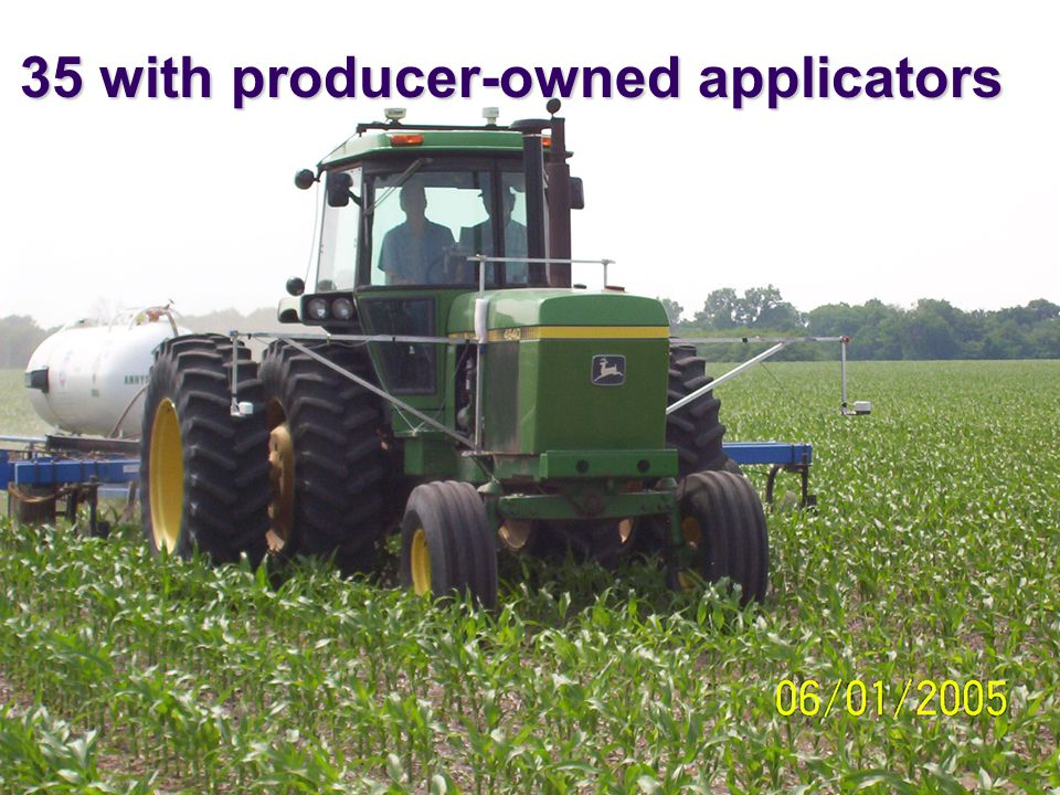 35 with producer-owned applicators