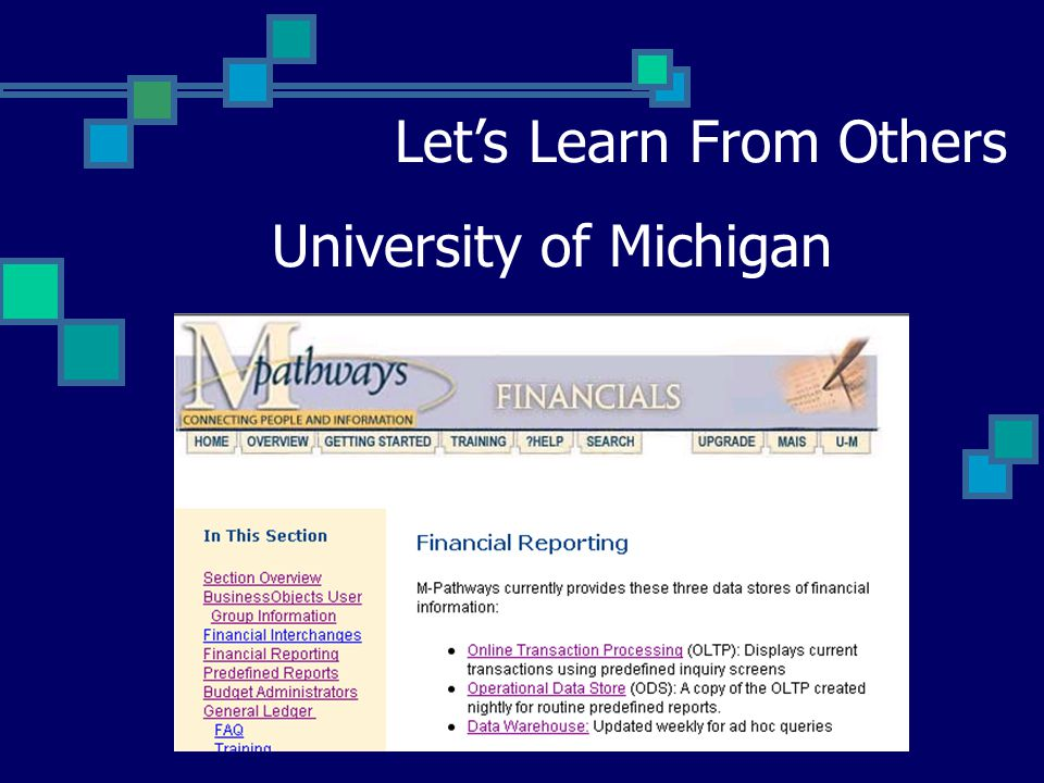 University of Michigan Let's Learn From Others