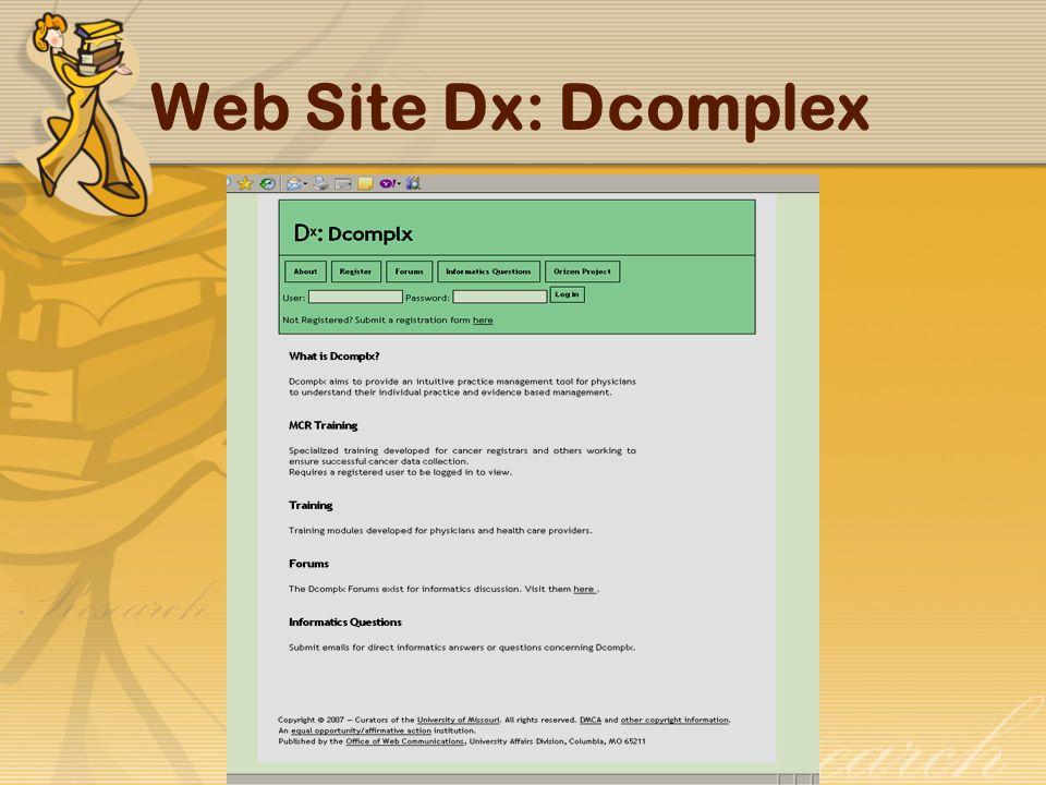 Web Site Dx: Dcomplex