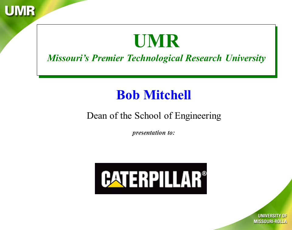 Computer Science Material Science Computer Engineering Information Science Computing at UMR