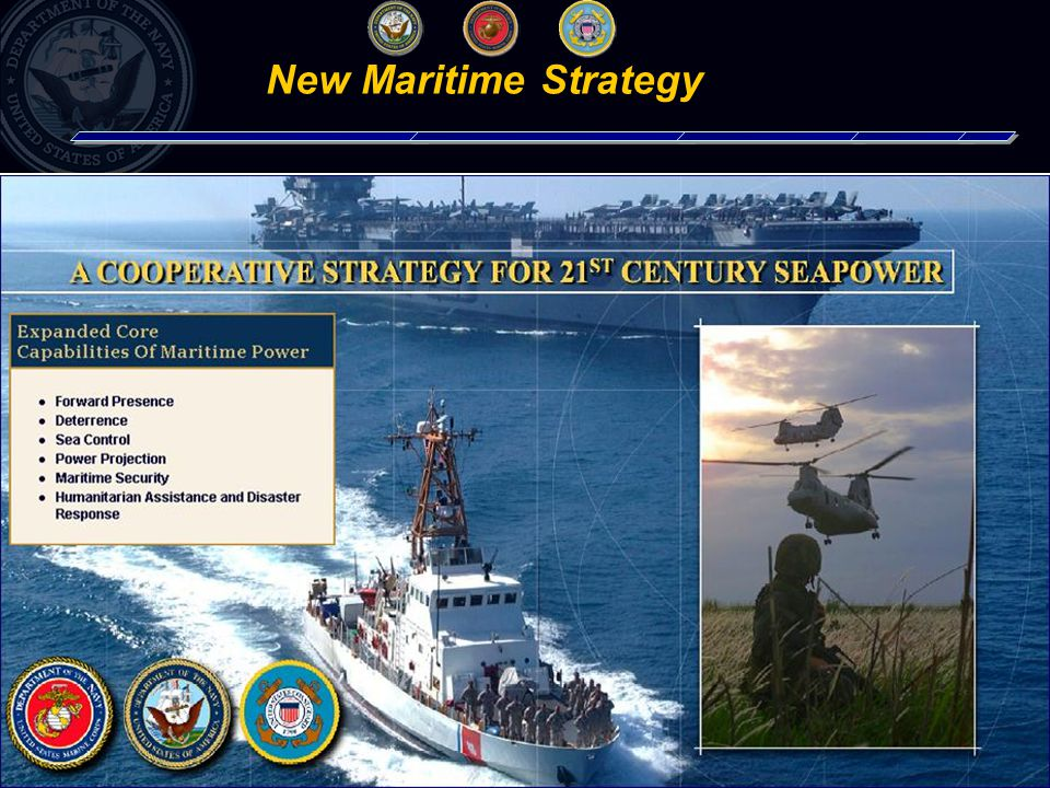 5 Achieving maritime security through: Expanded expeditionary presence, sustainment and cooperation Improved, prompt access and combat power to deter or defeat adversaries Enhanced alignment of people, processes, and resources to provide the right capabilities to joint commander at the right time Navy Strategic Plan Efficiently adapting to the new security environment