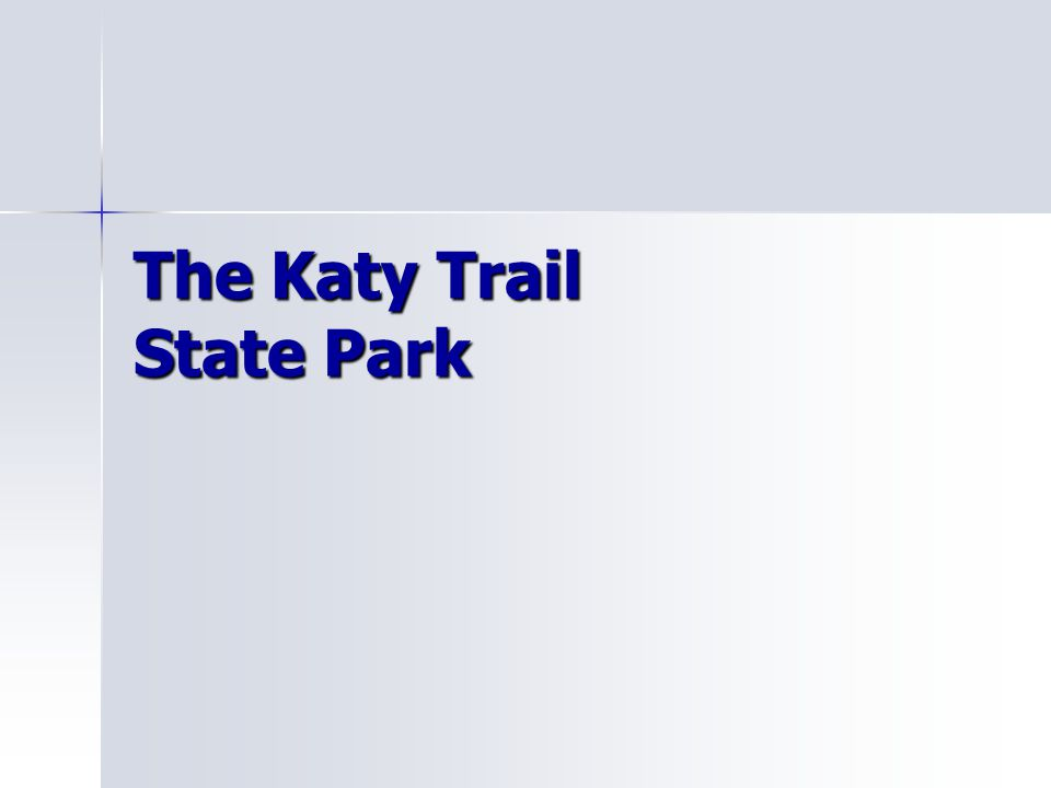 The Map of Katy Trail State Park