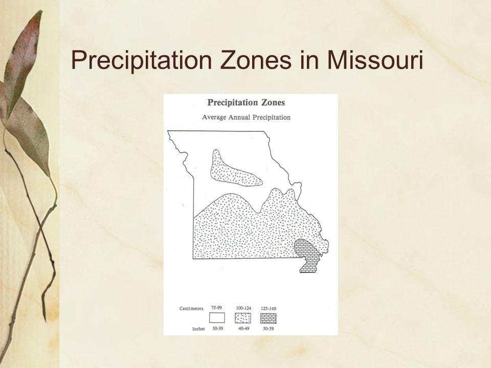 Precipitation Zones in Missouri