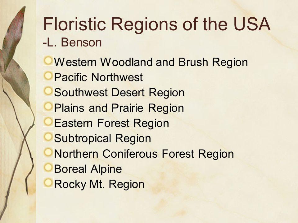 Floristic Regions of the USA -L.