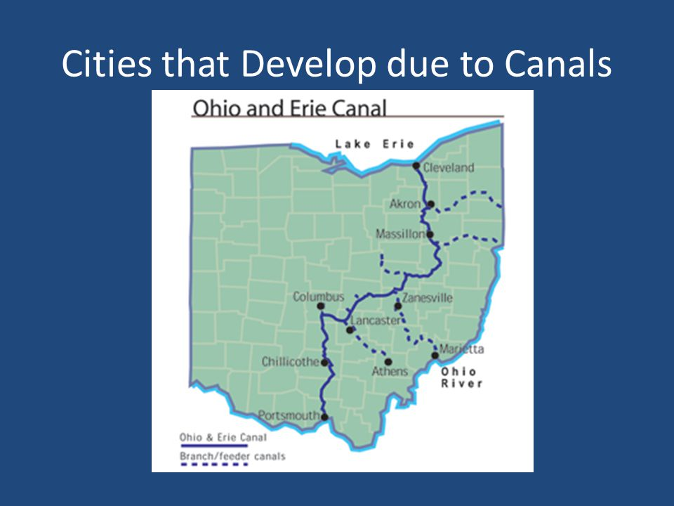 Cities that Develop due to Canals