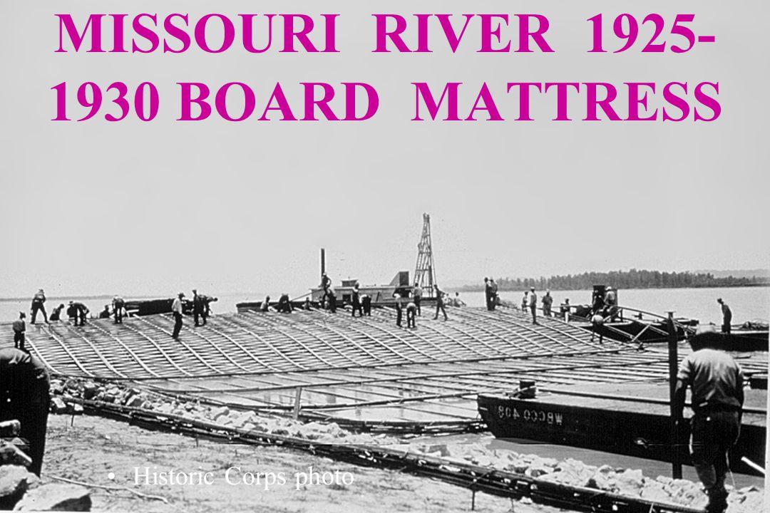 MISSOURI RIVER 1925- 1930 BOARD MATTRESS Historic Corps photo