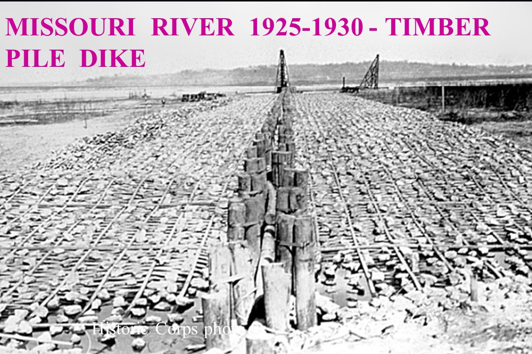 MISSOURI RIVER 1925-30 TIMBER CRIB