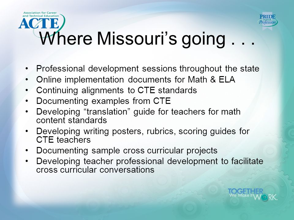 Where Missouri's going...