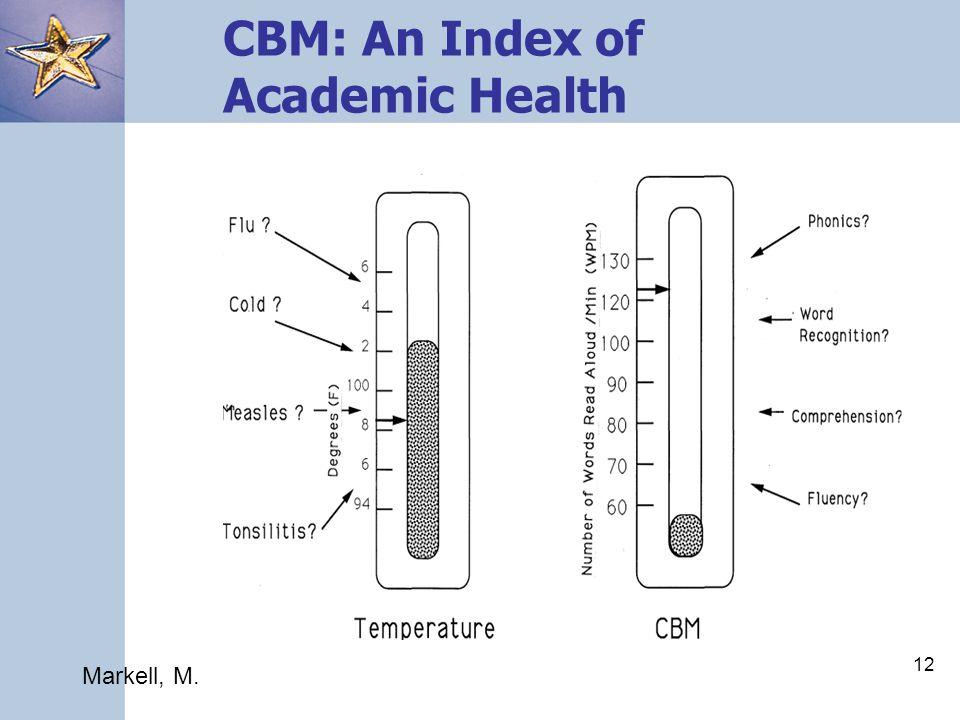 12 CBM: An Index of Academic Health Markell, M.