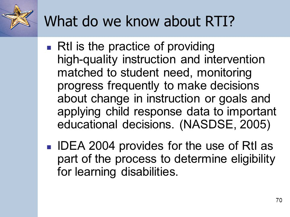 69 CBM and Its Use Within a RTI System
