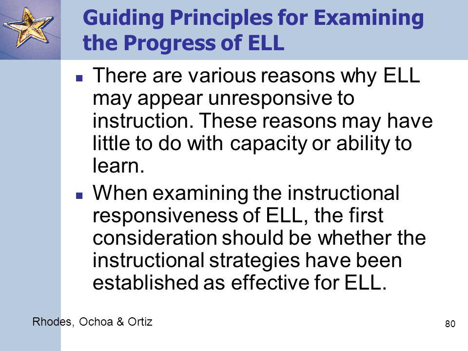 79 Evaluating the Progress of English Language Learners