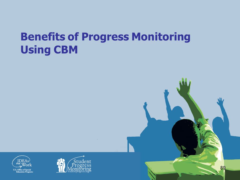 89 Benefits of Progress Monitoring Using CBM