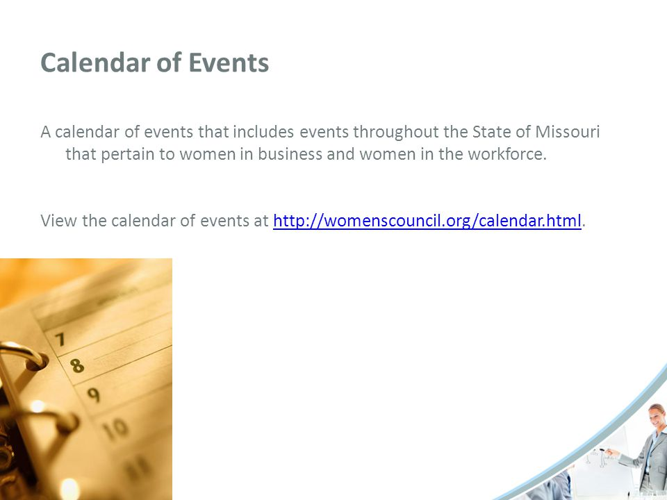 Women's Edition A publication featuring Missouri women owned businesses, Missouri women in non-traditional careers, resources for women in business and women in the workforce, a listing of upcoming events in Missouri pertaining to women in business and women in the workforce.