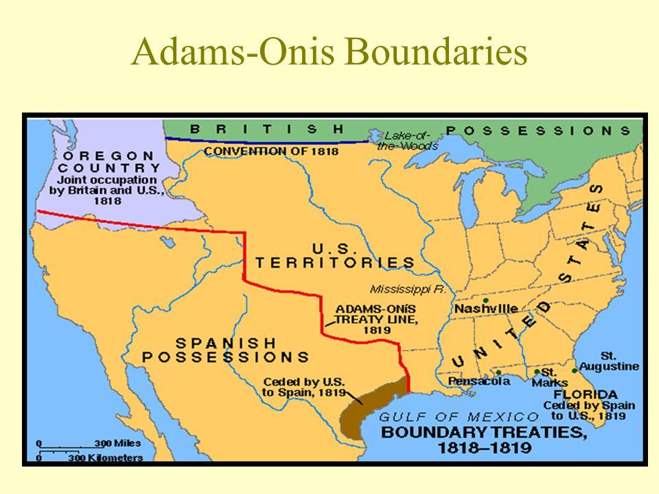 Adams-Onis Treaty Spain ceded Florida U. S.