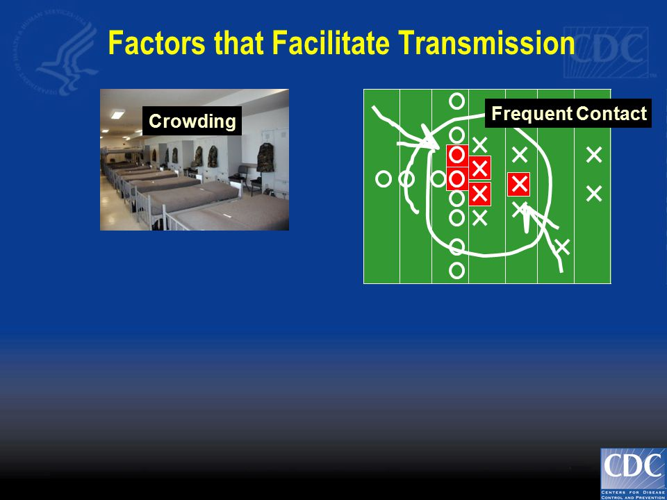 Frequent Contact Crowding Factors that Facilitate Transmission
