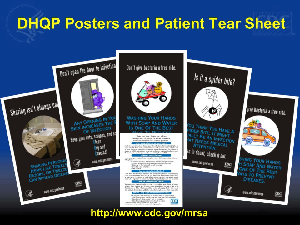 DHQP Posters and Patient Tear Sheet http://www.cdc.gov/mrsa