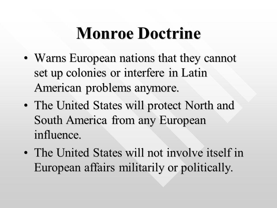 Monroe Doctrine Political Cartoon