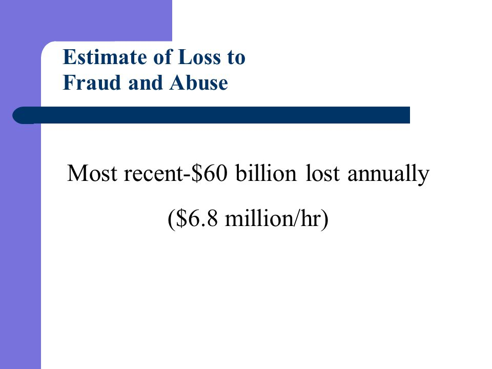 Non-Provided Services Most common complaint A physician pled guilty to charges of Medicare fraud related to submitting false claims for house calls.