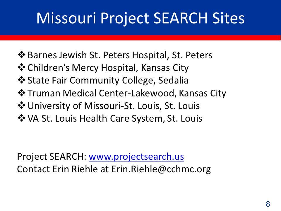 88 Missouri Project SEARCH Sites  Barnes Jewish St.