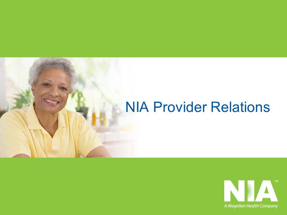 NIA Provider Relations