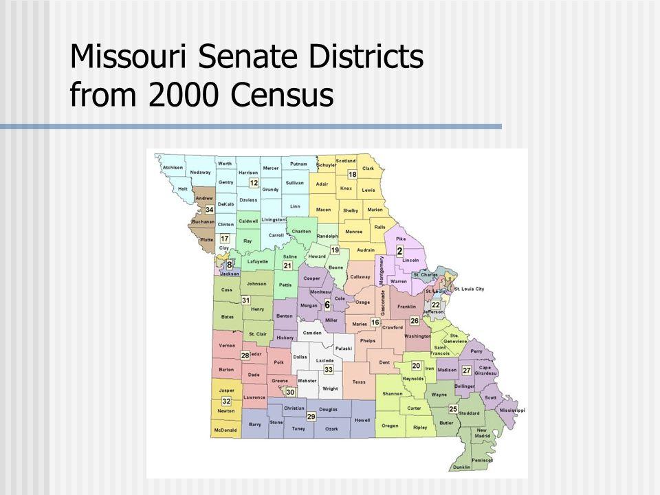Missouri Senate Districts from 2000 Census