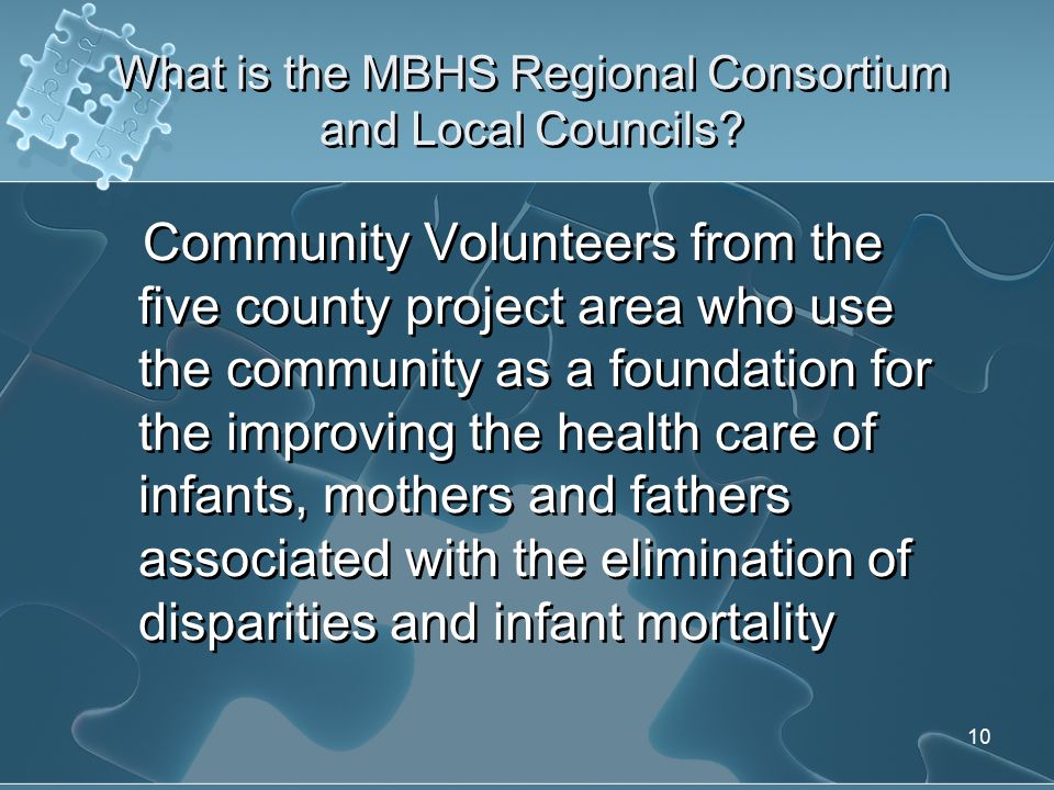 Community Interventions MBHS Regional Consortium MBHS Local Councils Local Health Systems Action Plan Community Interventions/ Partnerships Male Involvement MBHS Regional Consortium MBHS Local Councils Local Health Systems Action Plan Community Interventions/ Partnerships Male Involvement
