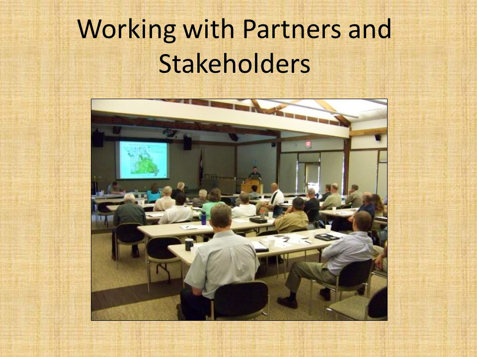 Working with Partners and Stakeholders
