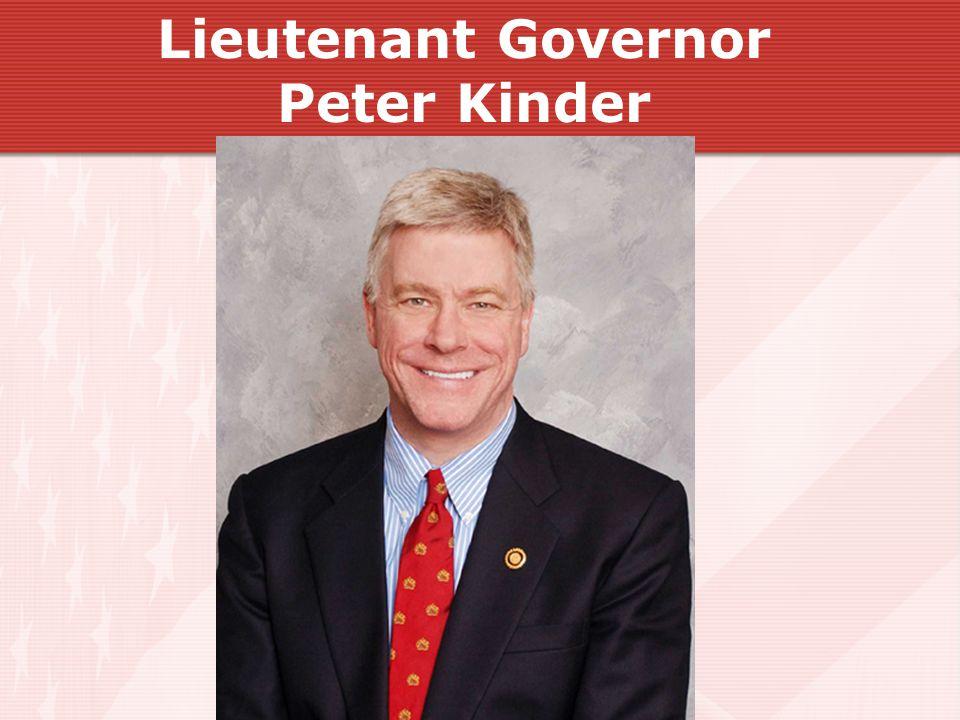 Lieutenant Governor Peter Kinder