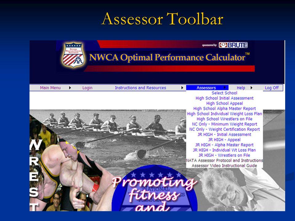 Assessor Toolbar