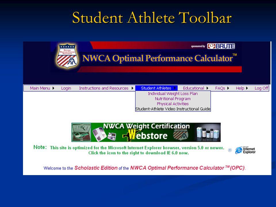 Student Athlete Toolbar