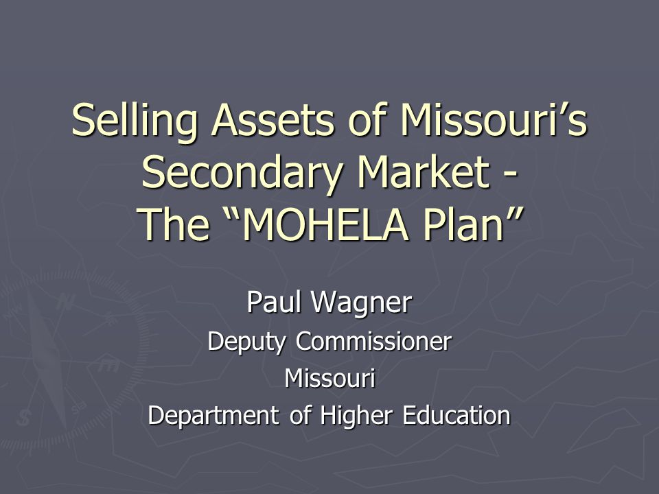 What is MOHELA.► Missouri Higher Education Loan Authority - created by statute in 1981.