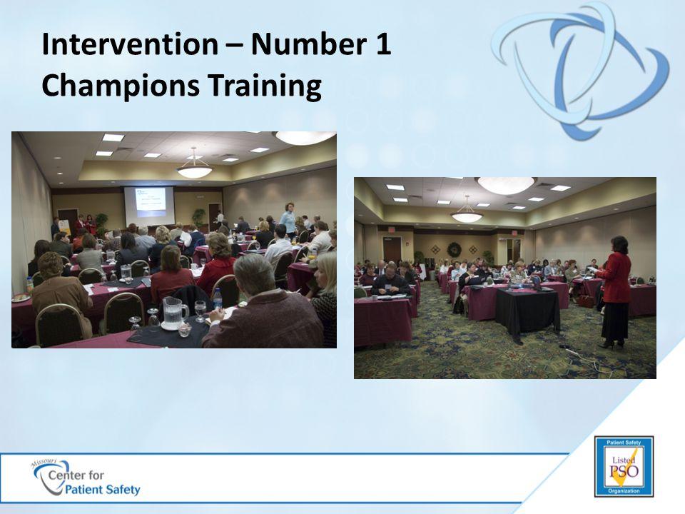 Intervention – Number 1 Champions Training