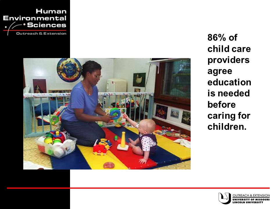 One-third of child care teachers have no relevant training in child care.