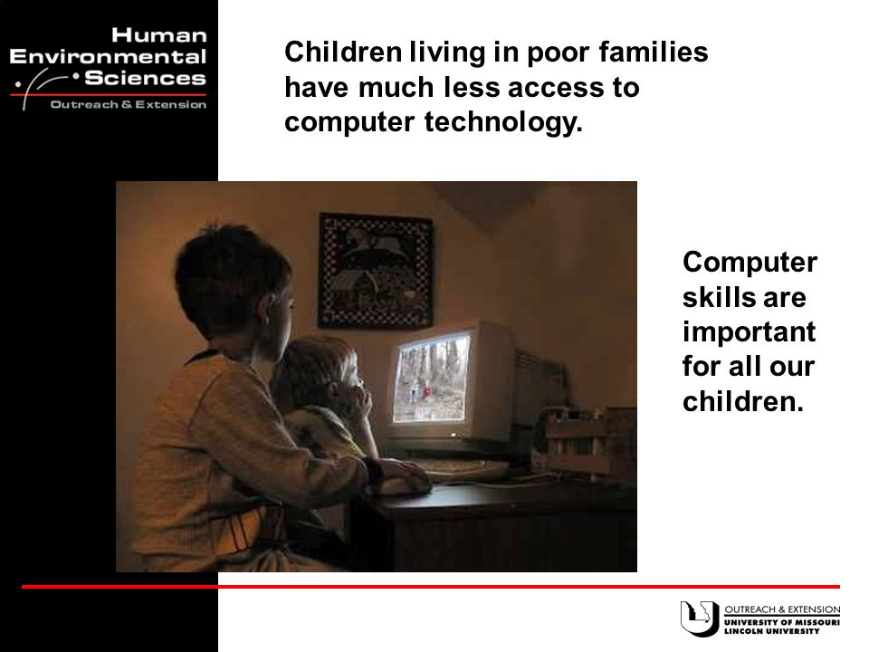 52% of Missouri children live in a home with Internet access.