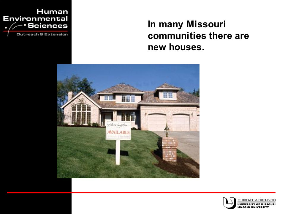 The State of Missouri Families in 2003 Housing