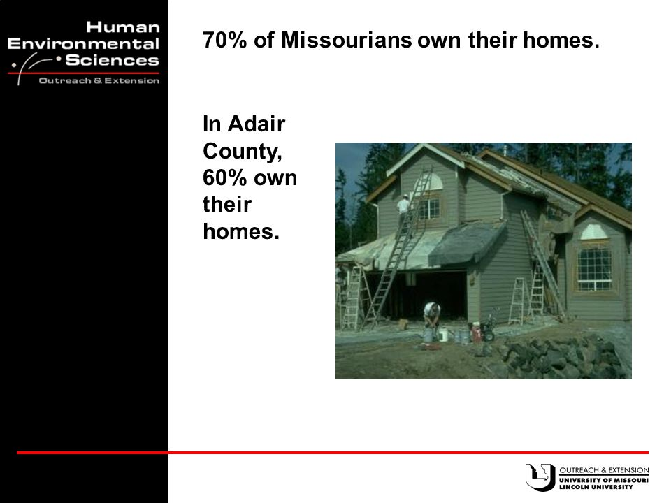 16% of Missouri's homes were built before 1940.