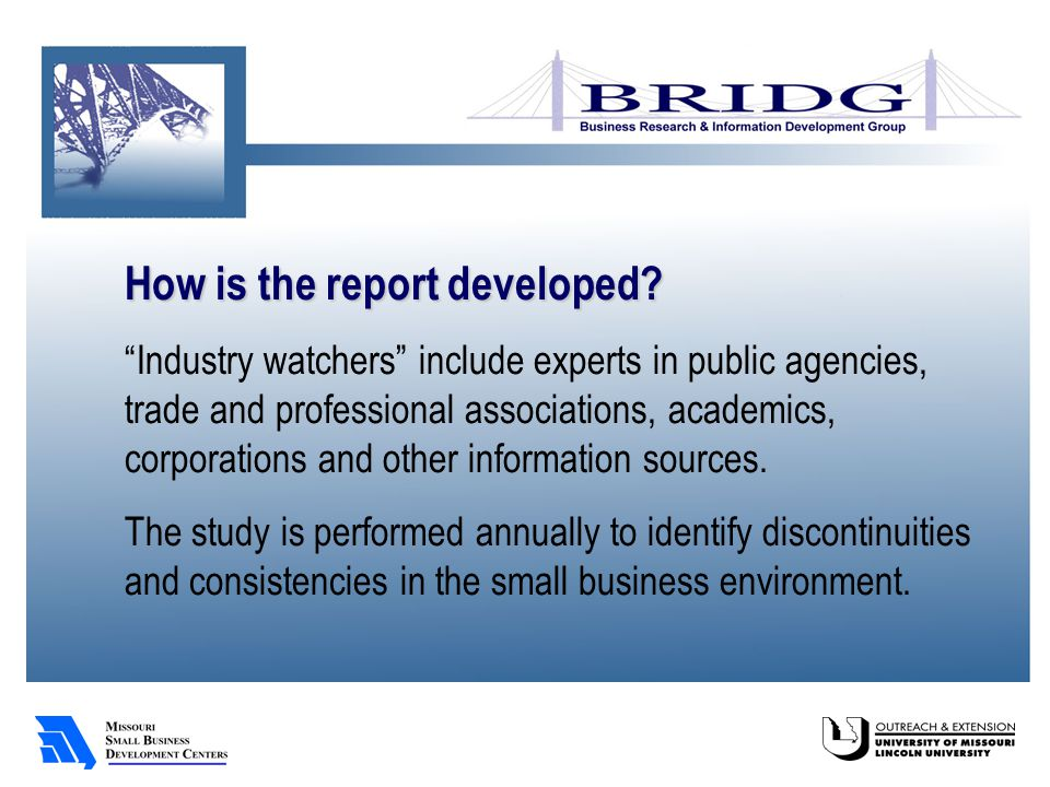 Key findings Planning and strategy development – or lack thereof – continue to be of concern to providers of small business assistance.