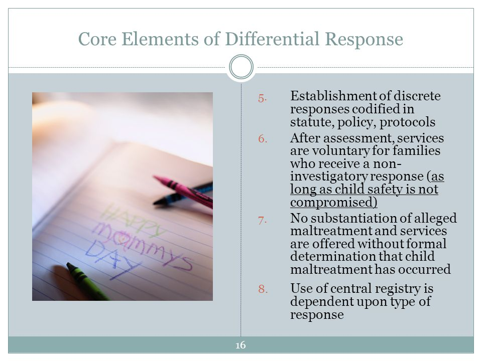 Core Elements of Differential Response 5.