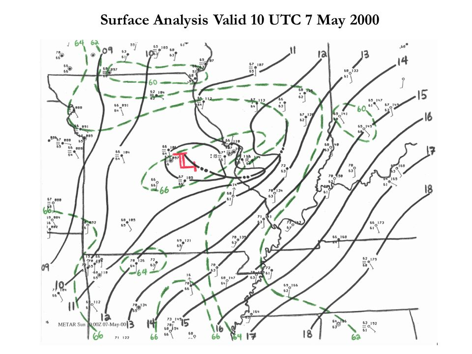 Surface Analysis Valid 10 UTC 7 May 2000