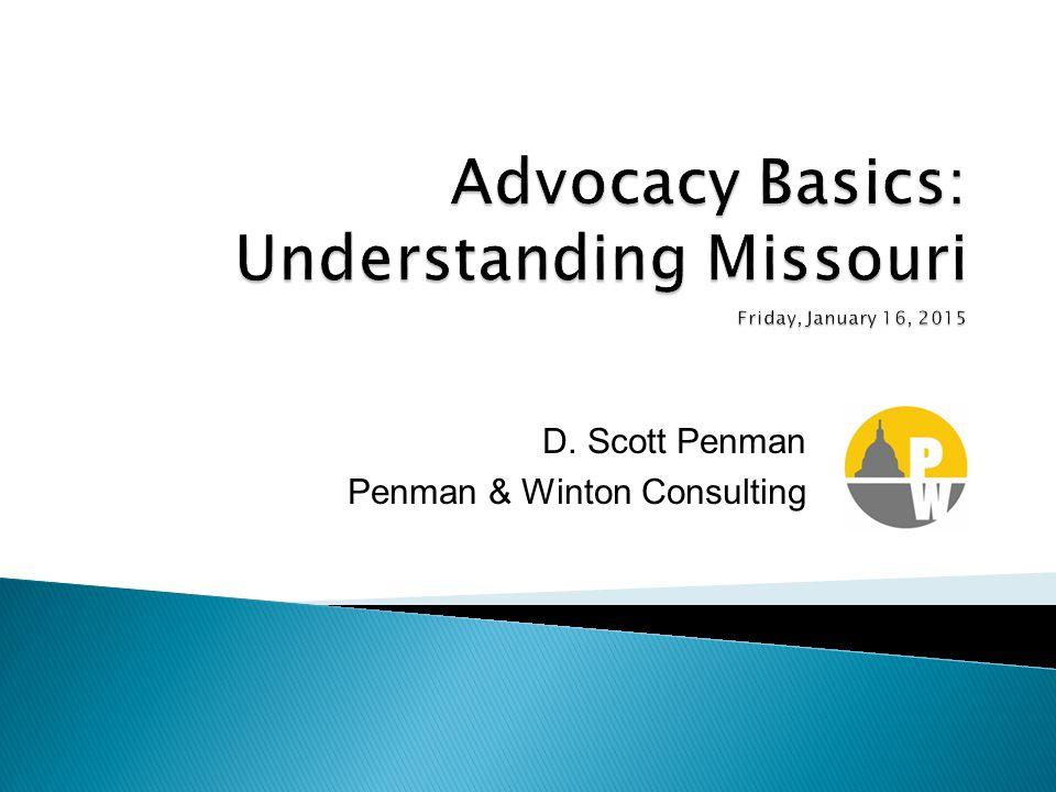 D. Scott Penman Penman & Winton Consulting