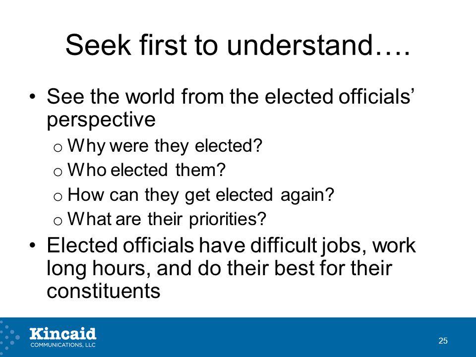 Seek first to understand….