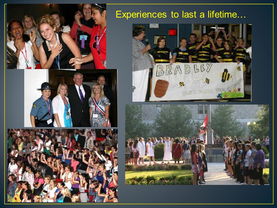 Experiences to last a lifetime…