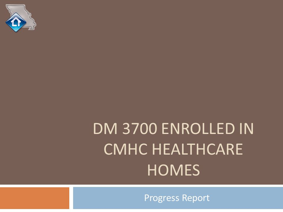 DM 3700 ENROLLED IN CMHC HEALTHCARE HOMES Progress Report