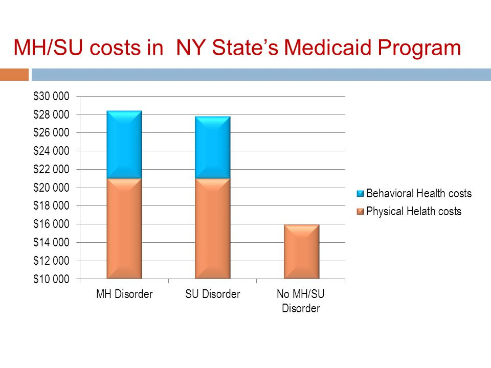 MH/SU costs in NY State's Medicaid Program