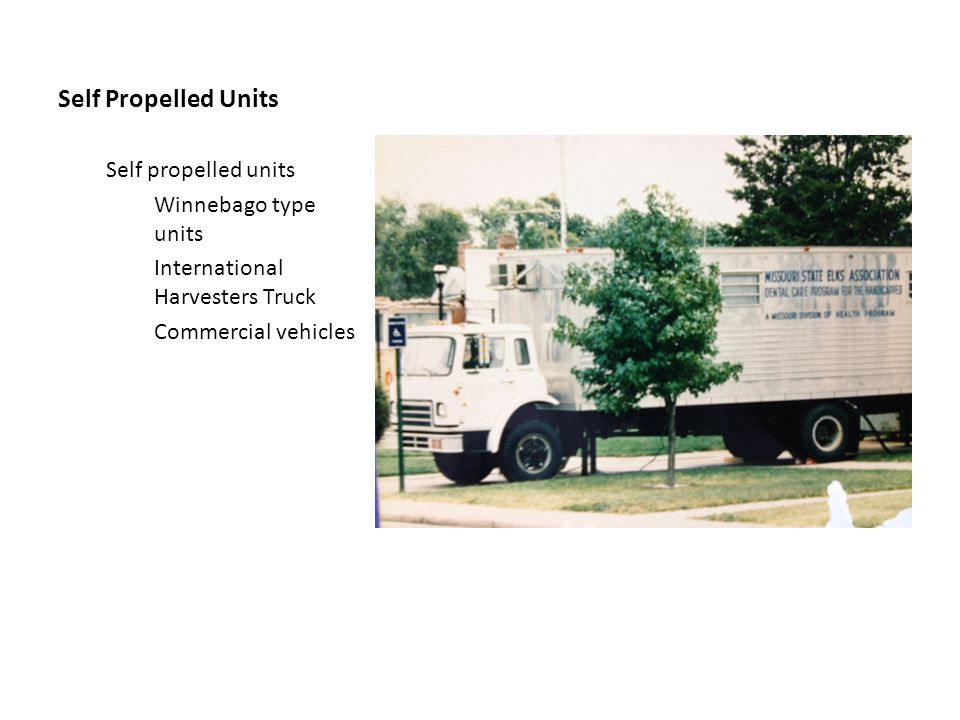 Self Propelled Units Self propelled units Winnebago type units International Harvesters Truck Commercial vehicles