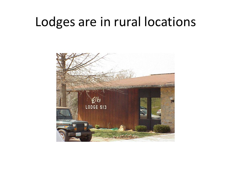 Lodges are in rural locations