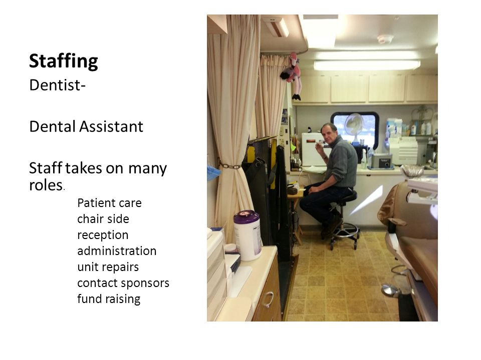 Staffing Dentist- Dental Assistant Staff takes on many roles.