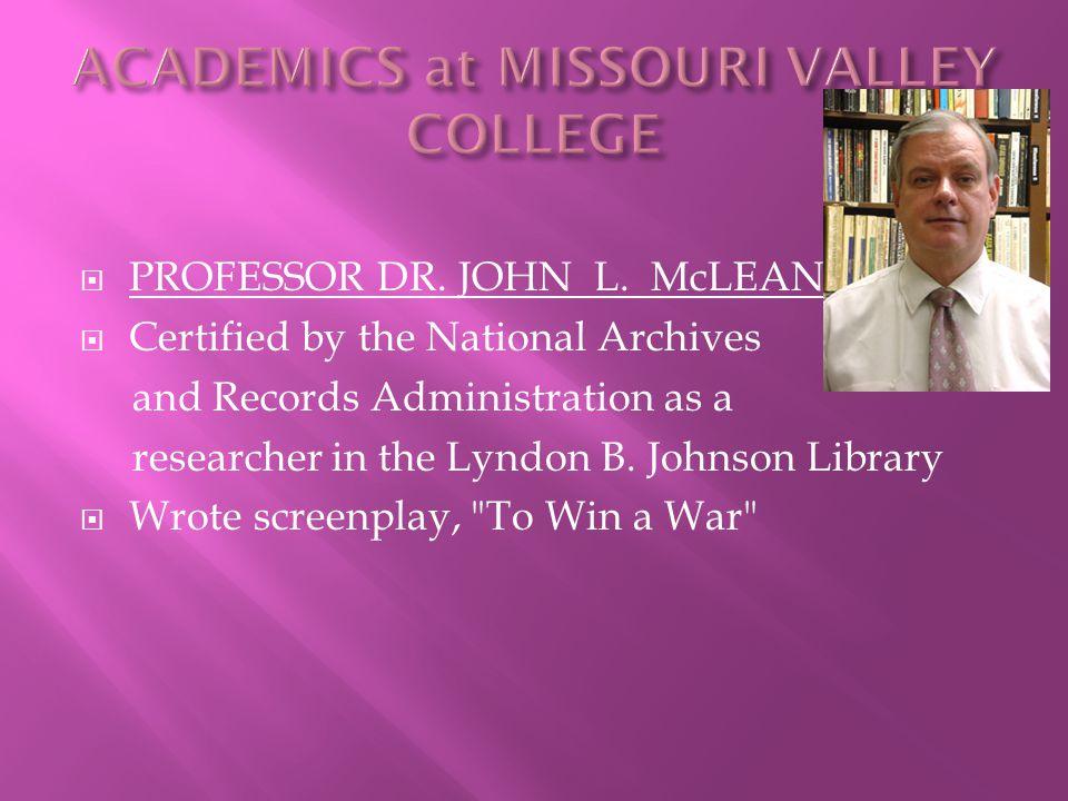  PROFESSOR DR. JOHN L.