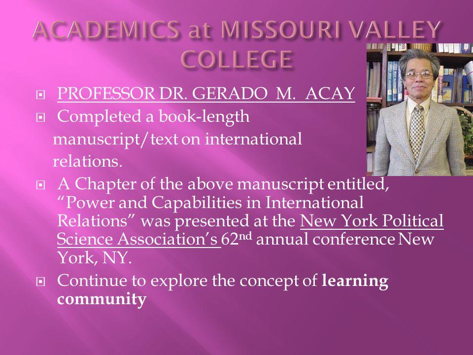  PROFESSOR DR. GERADO M.